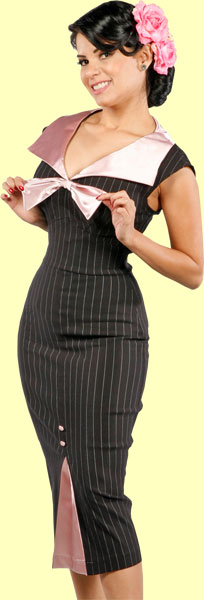 Daddy O's :  pinup girl pinstripe dress
