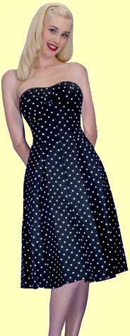 Daddy O's - Stop Staring Polka Dot Strapless